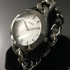 Ladies DKNY Designer Watch CHAMBERS NY2216 Chain link Steel Silver Dial Genuine