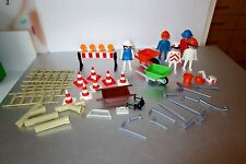 Playmobil Vintage 1974 Geobra 5 Figures  Wheelbarrows Tools Accessories Lot A4