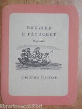 BOUVARD E PECUCHET Flaubert Gusta Santino Segnalibro Pubblicitario Leo Longanesi