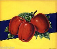 APPLE CRATE STOCK LABEL 1950S LOUIS ROESCH PRINTING ORIGINAL VINTAGE FRUIT BOX