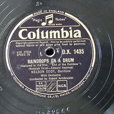 "78rpm 12"" NELSON EDDY raindrops on a drum / love is the time"