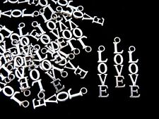 "15 Pcs Tibetan Silver "" Love "" Charms Pendant Jewellery Beading Craft G155"