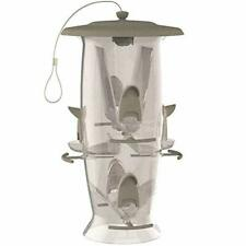 Hanging Wild Bird Seed Feeder Storage Outdoor Yard Squirrel Proof Large Capacity