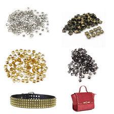 50-100 piezas Punk Rock con remaches tachonados de forma pirámide ropa de cuero Chaqueta de artesanías