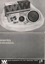 Kit de altavoces wharfedale unidad 3 instrucciones de montaje