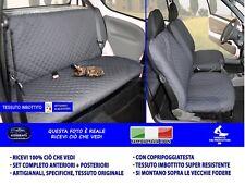 Fiat Seicento coprisedili Fodere per sedile auto cotone grigio sedile set in con