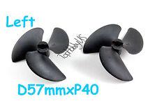 "2PCS D57mmxP40 3-Blades Nylon RC Boat Propeller for 3/16"" Shaft US TH038-00204"