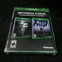 Dishonored 2 & Prey Xbox One Bethesda 2-Pack New Sealed