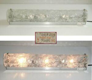 Hillebrand Wandlampe 50cm Spiegelleuchte 70er 1975 Kalmar-Eisglas ? Murano ?