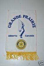 Vintage Grande Prairie Alberta Canada Rotary International Club Wall Banner Flag
