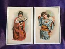 Four cards of American girls dressed as Japanese girls - nice condition