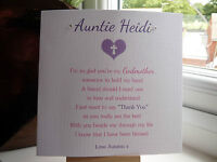 Personalised Thank You For Being My Godparents Godmother Godfather Card