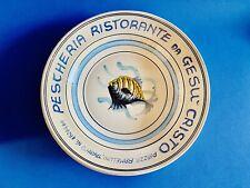 🔴 Pescheria Gesù Cristo Taranto grande piatto per frutti di mare anni 60
