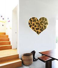 "Cheetah Animal Print Heart Wall Decal Large Vinyl Sticker 24"" x 22"""