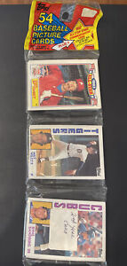 1984 Topps UNOPENED RACK PACK (54), Schmidt/Sandberg top, Mattingly ROOKIE Year