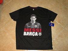 "FC BARCELONA (FCB) ""MESSI #10"" PHOTO LOGO TOP SIZE (XL) BLACK W/PLAYER IMAGE NWT"