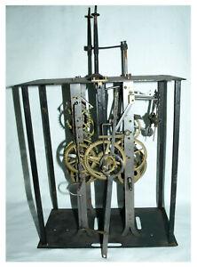 Alte interessante Comtoise- Uhr um 1880 mit Hackenhemmung