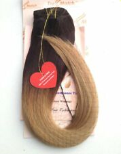 "Ombre Remy Human Hair Extension Clip in 20""-22"" Dark Brown/Caramel Honey Blonde"