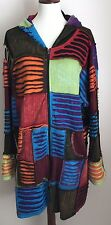 Greater Good Network Women's Colorful Zip Up Hoodie Jacket Patchwork Artsy Sz 3X