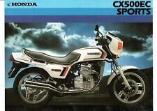 1982 HONDA CX500EC SPORTS TOURING BIKE 2 page Motorcycle Sales Brochure NCS