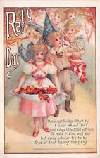 Rally Day Patriotic Theme Flags ca 1910 Postcard