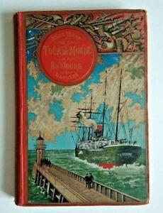 """Jules Verne Hetzel   """" Le tour du monde en 80 jours  """"  1894"""