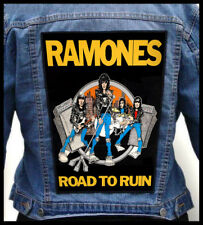 RAMONES - Road To Ruin  --- Giant Backpatch Back Patch