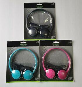 E-Circuit Headphones Black, Light Blue or Pink 639277986658 639277986641