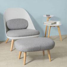 SoBuy Einzelsessel mit Hocker und Rückenkissen Relaxsessel Loungesessel FST63-HG
