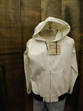 6d00c3cb14c0f USA Made Vtg NEW NOS Clarkfield Outdoors White Cotton Canvas Hooded Jacket L