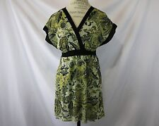Anthropologie Floral Blouse By Stacy Frati For Sweet Pea Size M Bat Wings V-Neck