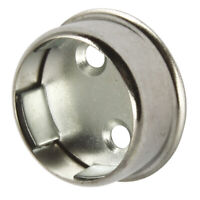 Wardrobe Rail Rod End Supports Brackets Sockets Round 25mm Chrome Plated Finish