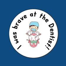 35x I Was Brave At The Dentist! Dentist Well Done Stickers 25mm Labels 278