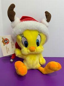 Hallmark Looney Tunes Santa's Wittle Helper Tweety Bird Santa Hat Bell Reindeer