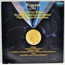 """EMANUEL AX   """"First Prize Winner Piano Master Competition""""   RCA ARL1-1030   EX"""