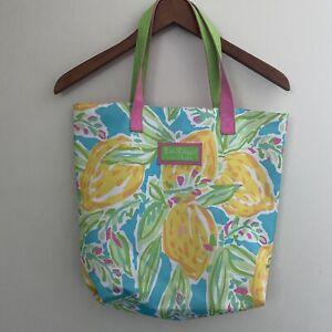 Lilly Pulitzer for Estee Lauder Floral Tote Beach Bag Purse Handbag