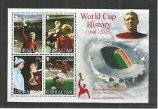 GIBRALTAR 2002 FOOTBALL WORLD CUP MINISHEET SG,MS1010 U/MINT LOT 8473A