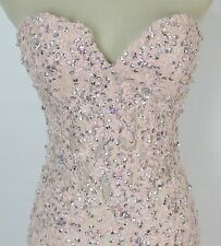 NWT Jovani Size 2 Mermaid $500 Pink Gown Prom Formal Evening Dress Lace Long