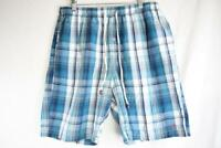 PENGUIN BY MUNSING WEAR Mens Blue Plaid Casual Shorts Size XL