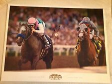 Mike Smith, Arrogate  California Chrome signed poster