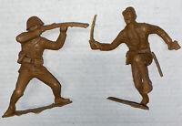 "Vintage 1963 Marx Toys Japanese WW2 Soldier Plastic Large 4-5""  World War 2 LOT"