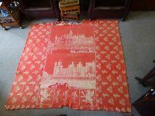 RARE 19th C Antique Welsh Wool tapestry Caernarvon Quilt Caernarfon Aberystwyth