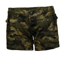 Grüne Camouflage Frauen Shorts