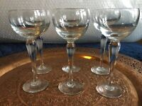 Tipperary Crystal Portland Suite Set Of 2 Hock Wine Glasses Irish