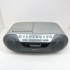 Sony Boombox Cfd-S05 Cd Player Radio Stereo Cassette Tape Mega Bass Works