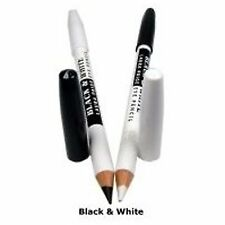 Saffron London Black & White 2 in 1 Kohl Eyeliner Eye Liner Double Pencil - Soft