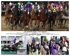 CALIFORNIA CHROME 2014 KENTUCKY DERBY 140TH  RUNNING PHOTO 10 x 8