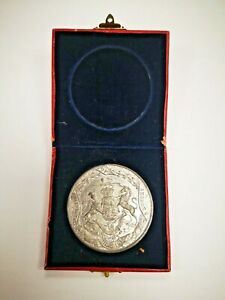 June 1911 Commemorative Coin : King George V Coronation in lined box