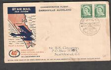 New Zealand 1959 commemorative flight cover 40th anniv Dargaville to Auckland