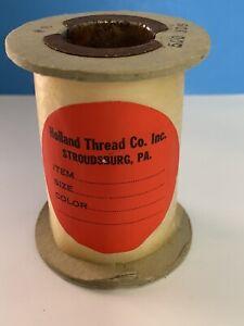Vintage Spool #8 Thread HOLLAND THREAD CO, Stroudsburg PA- White 500 yds
